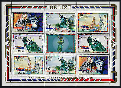Belize 817-8 MNH Statue of Liberty, Flags, Ships