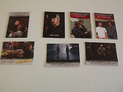 Supernatural Mixed Insert Trading Cards - Lot of 7