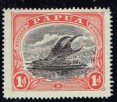 "1916 Papua ""Lakatoi"" 1d Sideways Wmk Crown to right of A Mint Hinged SG 94bw"