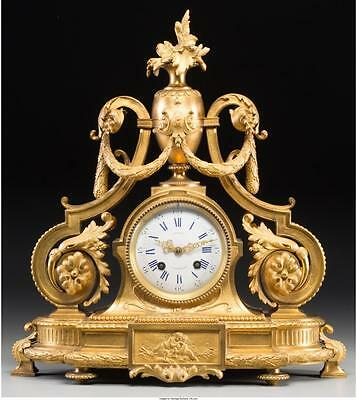 A Louis XVI-Style Gilt Bronze Mantle Clock, 19th century Marks to c... Lot 61085