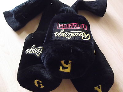 Set of 3 RAWLINGS Plush Golf Head Covers 4-5-6 sock-style NEW Free fast postage