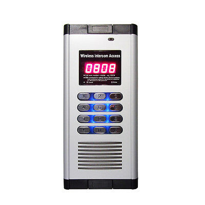 2-Relay Quad-band Intercom GSM Residential Gate Access Entry Apartment 1000 User