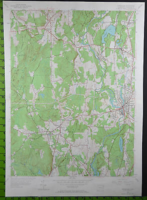 1955 Antique Danielson Dayville Connecticut USGS Topographic Map 19x27 Inches