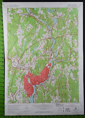 1954 Antique Norwich Connecticut USGS Topographic Map 19x27 Inches