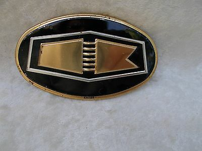 Vintage Wheaties Cereal Kaiser Car Emblem Lithograph Tin Badge