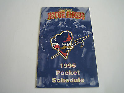 1995 Cfl Ottawa Rough Riders Pocket Schedule***frisby Tire ***