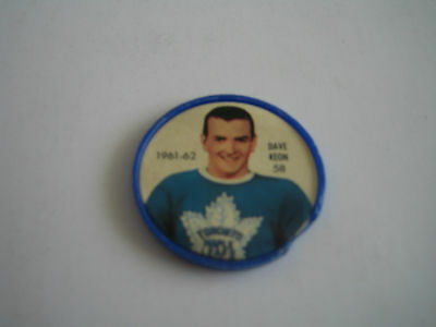 (A) 1961/62 Nhl Salada Foods Dave Keon Coin #58***toronto Maple Leafs***