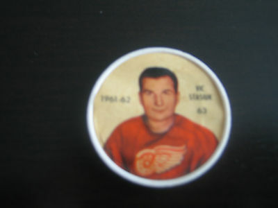 1961/62 Salada Foods Nhl Vic Stasiuk Coin #63 ****detroit Red Wings****