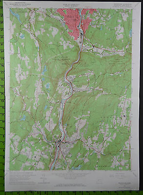 1964 Antique Naugatuck Seymour Connecticut USGS Topographic Map 19x27 Inches