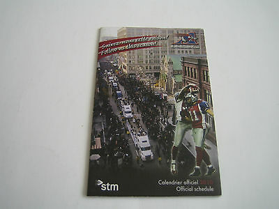 2010 Official Montreal Alouettes Cfl Pocket Schedule***molson Export***