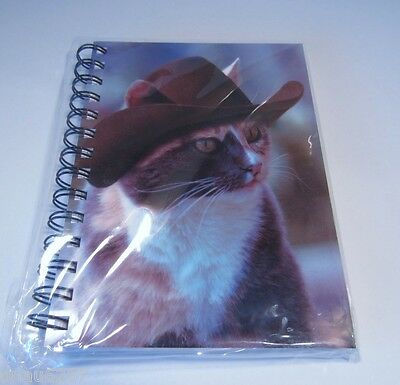 Calico Cat in Cowboy Hat Spiral Notebook by Aspen Light Imaging - Carol Gault