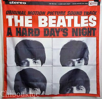 THE BEATLES A Hard Day's Night HUGE 4X4 banner poster tapestry cd album cover