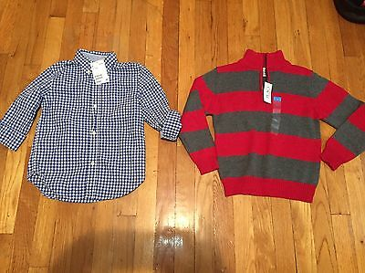 NWT Boys Lot Of 3 Style Shirts Size 5-6