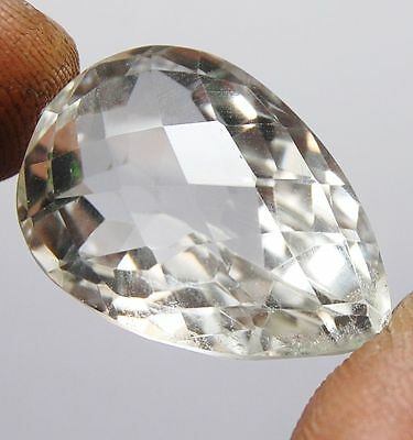 56.77 Ct Natural Rock Crystal Quartz Certified Gorgeous Gemstone For Pendant