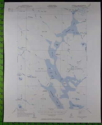 Churchill Lake Maine 1954 Antique USGS Topographic Map Printed 17x21