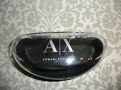 New A/X Armani Exchange Clear Sunglasses Case
