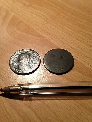 2 x Rare Early Milled? Coins - see all pictures!