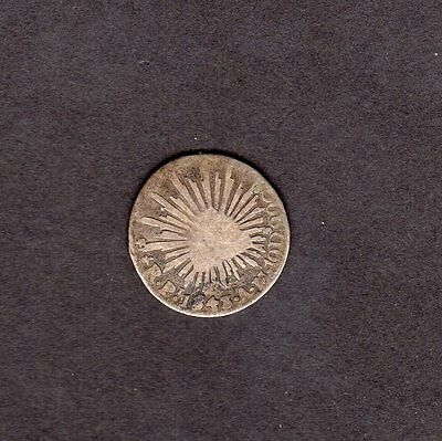 1843 Mexico Half Reale Silver Coin - Great Looking Coin!