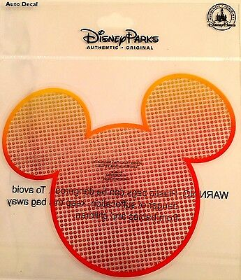 DISNEY Mickey Icon with Crystal Jewels AUTO WINDOW DECAL / STICKER / CLING New
