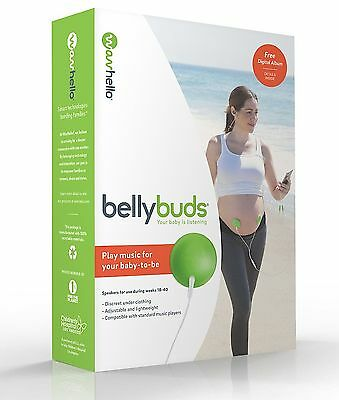 BellyBuds Belly Buds Deluxe Baby Bump Sound System Headphones NEW Free Shipping