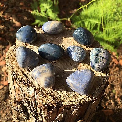 *2* Dumortierite Tumbled Stones Natural Healing Meditation 20mm-25mm