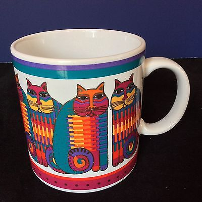 LAUREL BURCH RAINBOW CAT COUSINS COFFEE TEA MUG CUP Multi Color 8 CATS JAPAN '88