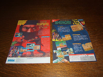 Shinobi PCB with two laminated Flyer/Legendary Ninja Arcade Action from 1988 !!!
