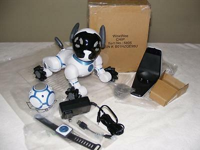 CHiP WowWee Interactive Robot Pet Dog Bluetooth SmartBand Brown box SEE Notes