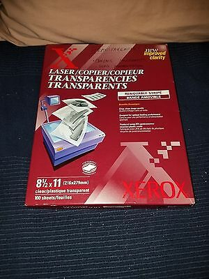 Xerox Transparency Film New in Box 75 Sheets in Opened Box