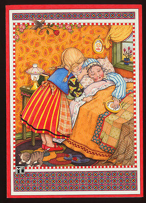 UNUSED 1993 Mary ENGELBREIT GET WELL Card GERDA AND GRANDMOTHER, SNOW QUEEN +env