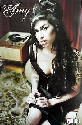 AMY WINEHOUSE, English singer and songwriter & CHRIS BROWN POSTER