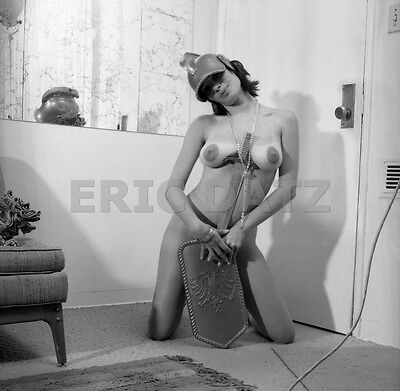 1960's Enke Negative, buxom nude pin-up girl Madaleine in Roman costume, t972576