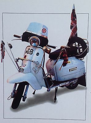 """MODS / SCOOTERS Lambretta 6"""" X 4"""" Collectable Postcard, Scootering, Vespa, Mod"""