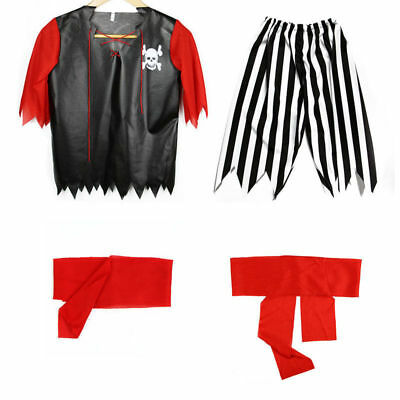 Kids Caribbean Buccaneer Pirate Boys Fancy Dress Costume Book Week Outfit