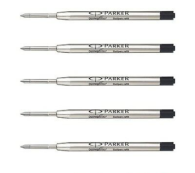 5Xparker Quink Flow Ball Pen Bp Refill Black Ink With Free Worldwide Shipping
