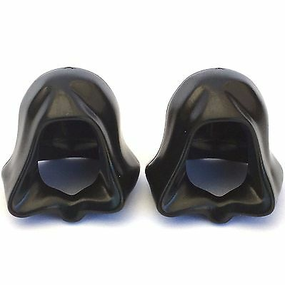 2 x STAR WARS lego BLACK HOOD sith lord GENUINE minifig NEW headgear JEDI knight