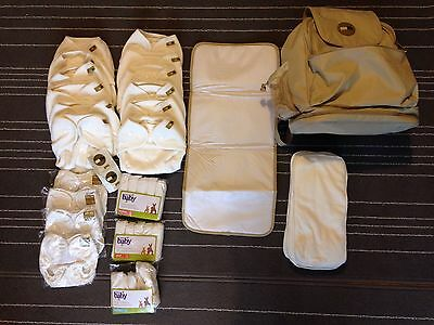 OneLife (original Motherease) Nappy Bag, Changing Mat, 10 Nappies & Boosters