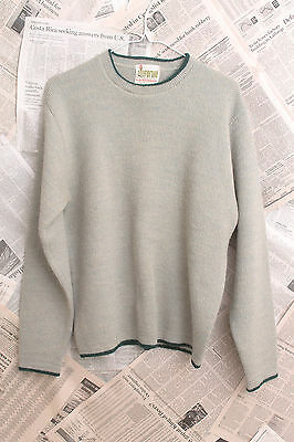 Vintage 70's Forum Sportswear Fuzzy Wool Blend Sweater with Green Trim Size M