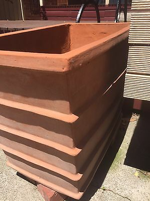 Terracotta Rectangle Pots X 2  Large
