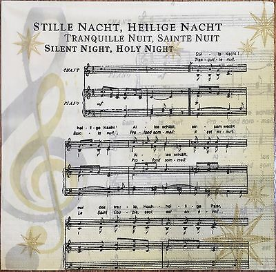 2 single paper napkins Decoupage collection Piano Music Notes Silent night Song