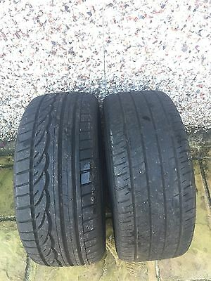245/40-18 Dunlop Tyres X 2 With 7.59Mm And 4.45Mm Tread