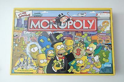 The Simpsons Monopoly Edition Family Board Game. 100% Complete & Good Condition