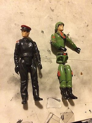 Action Force Figures - Rare - The Black Major And Z Force Trooper