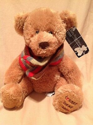 RUSS House Of Fraser Baby Fraserbear 2006 Brown Teddy Bear With Scarf Soft Toy
