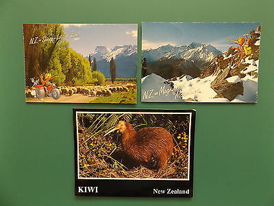 Three Vintage New Zealand Old  Postcards Collectors - Used / Posted
