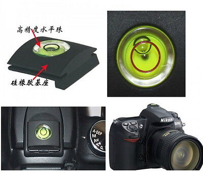 Spirit Level Flash Hot Shoe Cover Cap Bubble For Canon Nikon Pentax Olympus