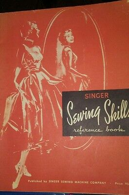 Vintage Singer Sewing Skills Reference Book (1954 PB) Manual, Tips ,Techniques