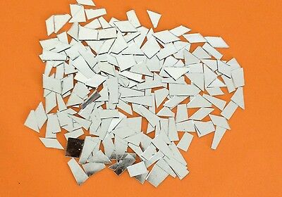 Mosaic mirror Tiles-Assorted Shapes+-250grm--2MM Thickness
