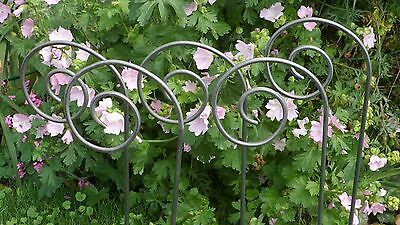 Set of Five Metal Garden Crooks, Plant Support/Stakes