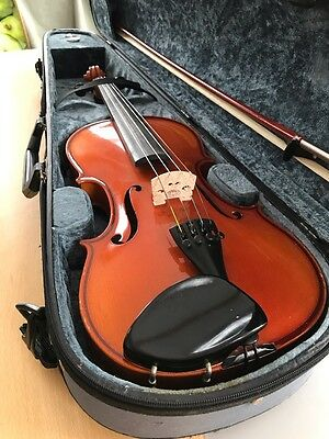 Michael Poller Full Size 4/4 Violin With Dominant Strings, Bow And Case